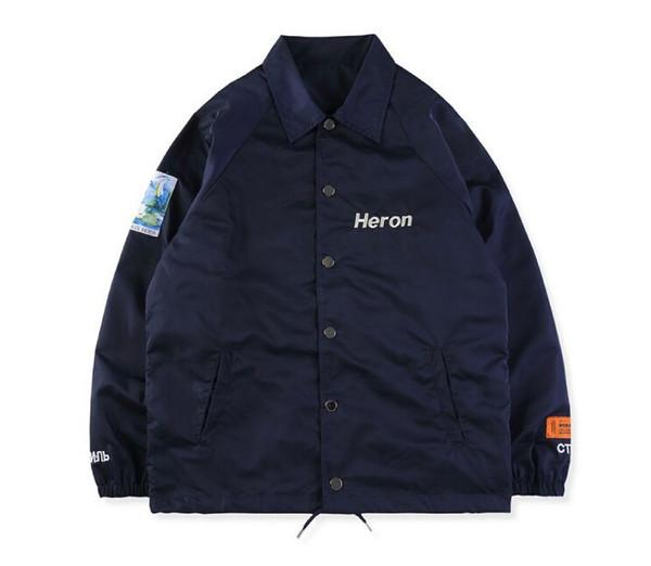HERON PRESTON Jackets Winter Men Clothing Long Sleeve Black Navy Designer Casual Jackets Coats Size S-XL