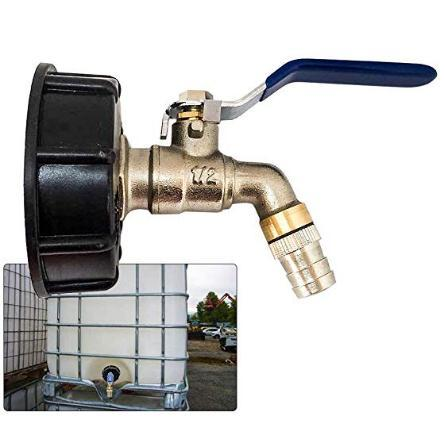 "275-330 Gallon IBC Tote Water Tank Adapter 2/"" Brass Hose Faucet Valve Tool New"