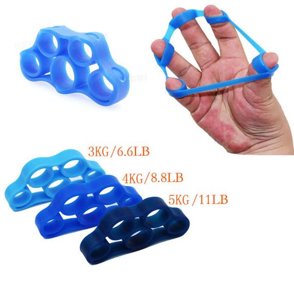 Finger 1pcs silicone Gripper Bande de résistance Grip main poignet Brancard doigt Expander exercice Force formateur Multi Couleurs