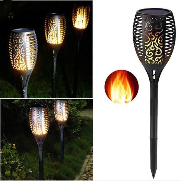 33LED LAMPE SOLAIRE Torche Lumière Flamme Pelouse Jardin