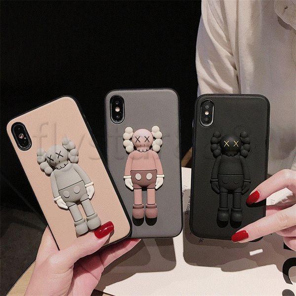 Moda 3D Solid Cute X Kaws Toy Phone Case para iPhone X XS Max XR 6 6S 7 8 Plus Funda de silicona suave de dibujos animados para pareja