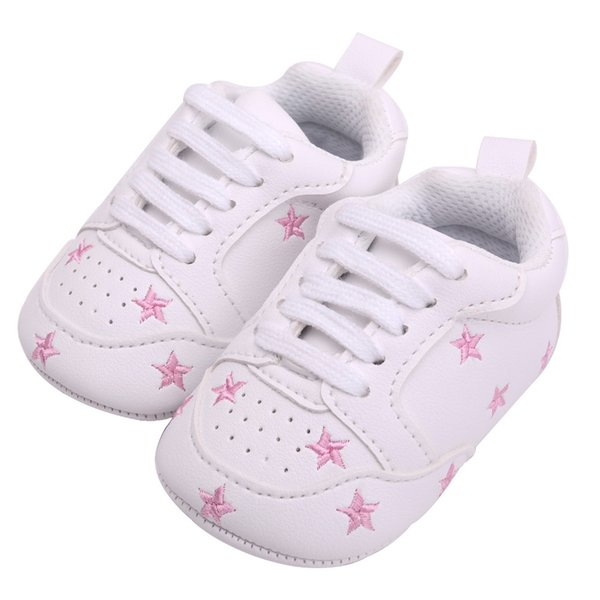 Baby Shoes Newborn Unisex Pu Leather First Shoes Baby Walkers Soft Sole Toddler Moccasins Lace-Up Brand Size 1 2 3
