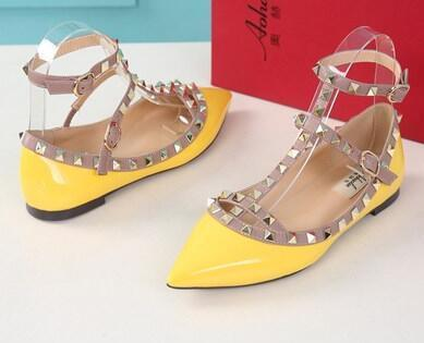 yellow patent leather