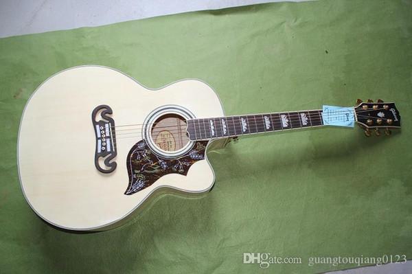 Özelleştirilmiş OEM gitar / Çok Yıllık tedarik SJ-185 akustik gitar halk J-185 ec 41 inç büyük miktarda HONGYU