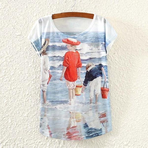 Женская футболка больших размеров с принтом Basic Plain T Shirt Повседневные топы Kawaii Camisetas Mujer