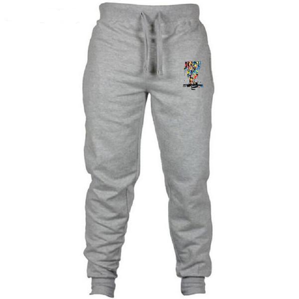 Pantaloni da uomo autunno moda stampato pantaloni da jogging 2019 pantaloni da uomo nuovi pantaloni da jogging pantaloni tuta di colore solido
