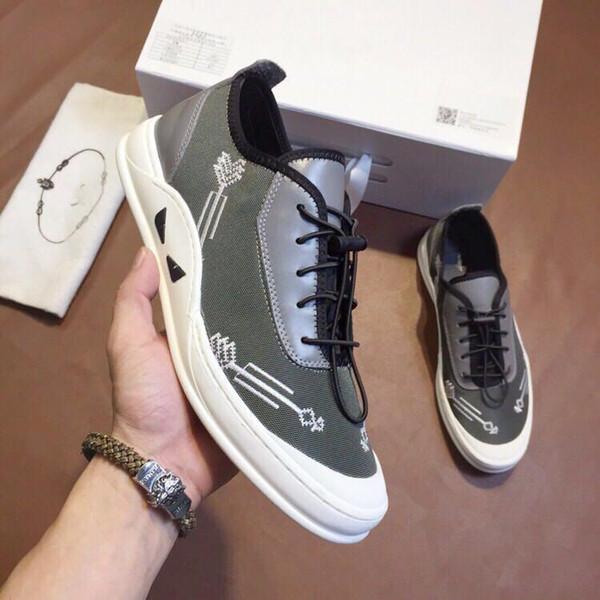 Модная мужская арена Высокого верха из натуральной кожи на шнуровке zapatos hombre кроссовки во французском стиле kanye west Shoes 38-44 1303362