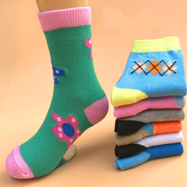 8 Pairs Pack Kids Girls Colorful Creative Fun Novelty Design Crew Socks For Girl & Boys Birthday Christmas Gifts fit 1-9 Years