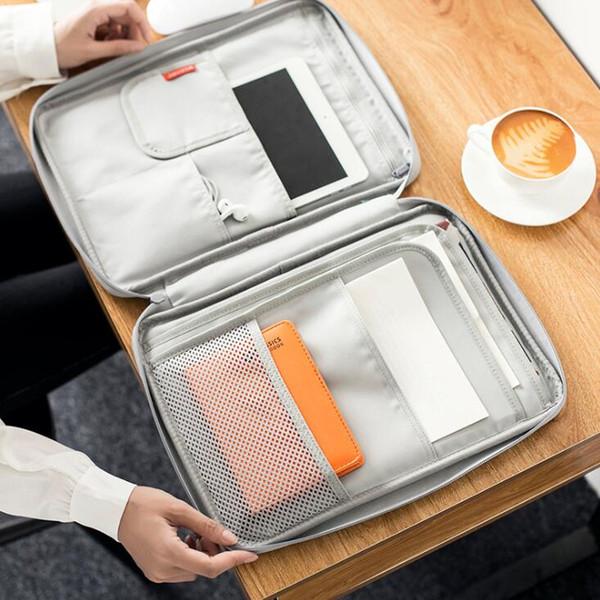 Mulheres Arquivo Pasta A4 Oxford Cloth Notebook pastas impermeável portátil saco de documentos Organizer Escritório de Negócios W-A16B-75