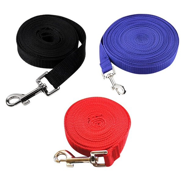 pet lead leash for dogs cats nylon walk traction rope leash selectable size outdoor security training dog harness