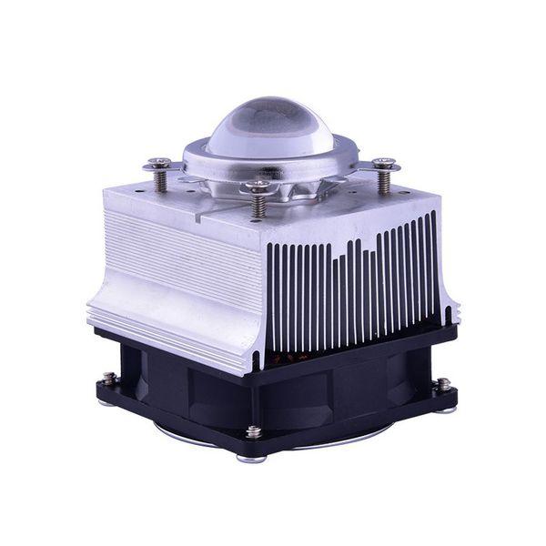 Radiateur en aluminium de radiateur de ventilateur de radiateur en aluminium de 20-100W LED 60 90degree 44mm lentille + support de réflecteur DC12V 1.25A