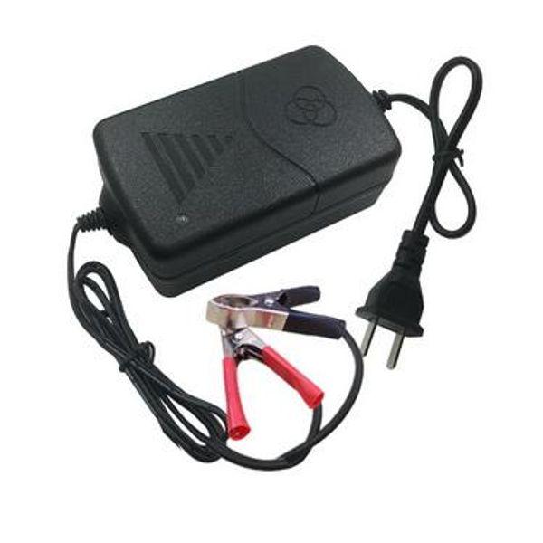 Chargeur portable intelligent 50pcs 12V1A chargeur de batterie de moto de voiture 12V avec adaptateur 12V pour US 5AH-15AH