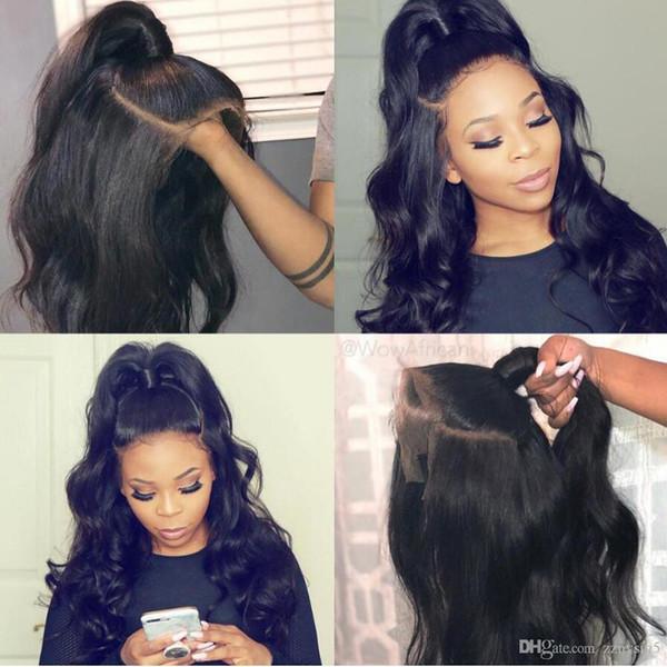 Brasileiros Lace Front Humanos perucas de cabelo para as mulheres negras com bebê de cabelo rendas frente wig Remy Pré arrancada Hairline Nós descorados