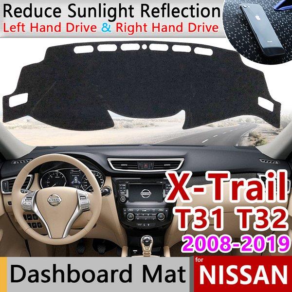 for X-Trail T31 T32 2008~2019 Anti-Slip Mat Dashboard Cover Pad Sunshade Dashmat Car Protect Dash Carpet Accessories rug