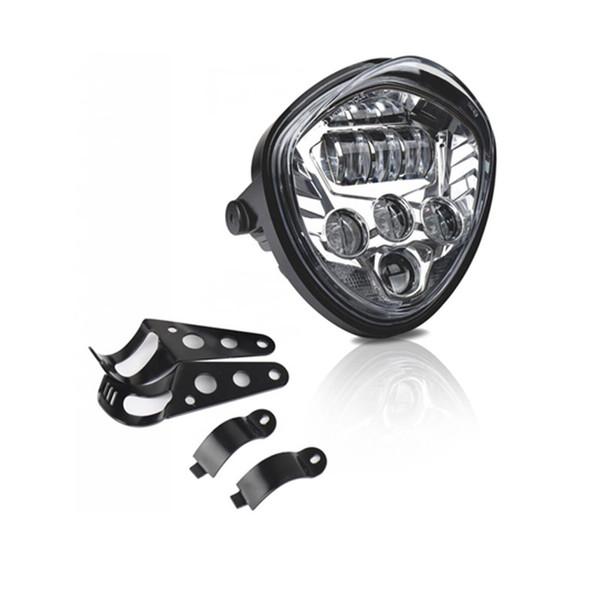 LED Batterie moto universelle phare 12V 60W Head Light lampe avec connecteur H4