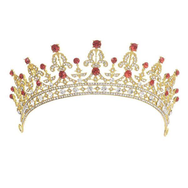 Rhinestone Crystal Tiaras and Crown Women Lady Diadem Coronal Headpiece Bridal Bridesmaid Wedding Hair Jewelry Accessories VL