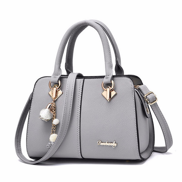 PUIMENTIUA Women Hardware Ornaments Solid Totes Handbag High Quality Lady Party Purse Casual Crossbody Messenger Shoulder Bags