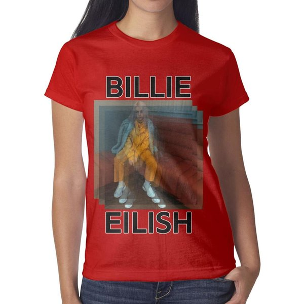 47 best Billie Eilish images Women Tee Printed Running Personalised T Shirts Printing Crew Neck Shirts Womans Black T Shirt