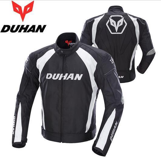Moto Marke DUHAN Motorrad Winddicht Reiten Sport Jacke Kleidung Motocross Offroad Racing Schutzmantel für Männer Schwarz M-2XL