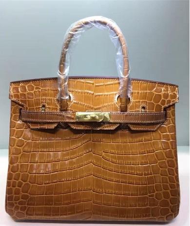 35CM 30CM 25CM 2018 Big Brand Alligator Totes Shoulder bags With Lock White Thread women Lady Soft Genuine leather Fashion Handbag wholesale