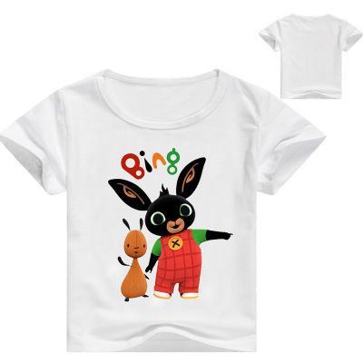 2020 niños del verano ropa de los niños del juego camiseta de Bing de conejito 3D Printed Niños camiseta de las muchachas historieta de las muchachas remata tes 3-14Y camisa de conejo