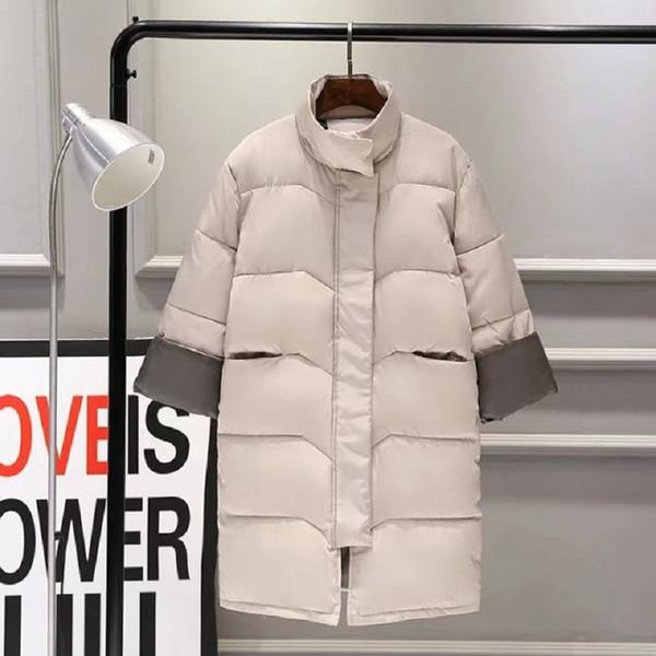 # 9113 Beiläufige Winterjacke Frauen Mantel 2019 Warme Parka Weibliche Plus Große Größe Lange Jacke Steppmantel Mit Langhülse Kleidung