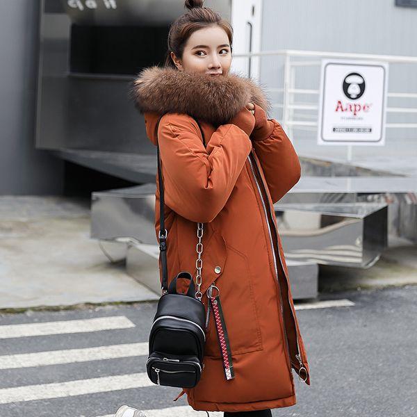 dropshipping winter jacket women fur hooded parka long coats embroidery cotton padded warm thicken jaqueta feminina winter coat