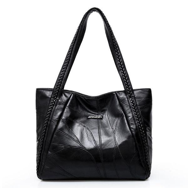 good quality Women Tote Bag Genuine Sheepskin Patchwork New Hand Bags Big Capacity Woman Shoulder Bag Large Ladies Shopping Bags