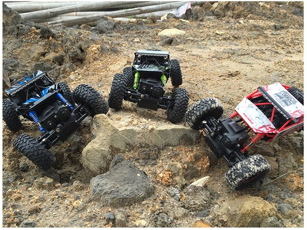 Rc Car 4wd 2 .4ghz Rock Crawlers Rally Climbing Car 4x4 Double Motors Bigfoot Car Remote Control Model Off -Road Vehicle Toy