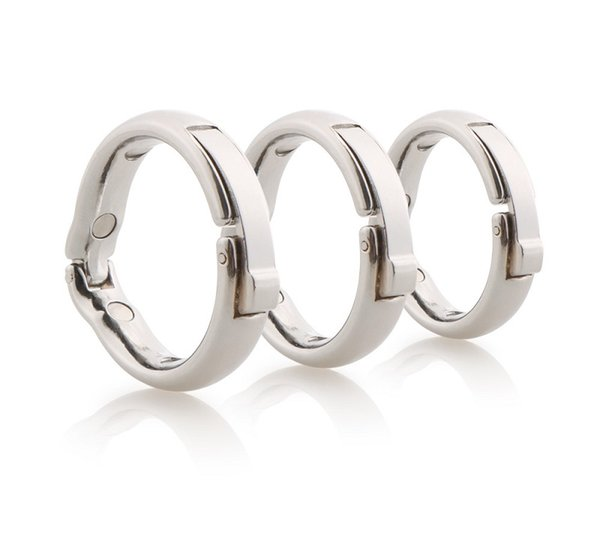 2019 China Ring Enhancer Stimulator Toys Penis Rings Adjustable 5 Size Delay Ejaculation Ring - Cock Man Male Erotic Magnetic Physiotherapy