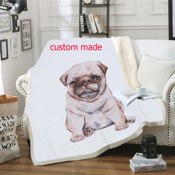 Выполненное на заказ 3D Printed Sherpa Одеяло Couch пододеяльник Travel Bedding Outlet Velvet Плюшевые Бросьте руно Одеяло Покрывало