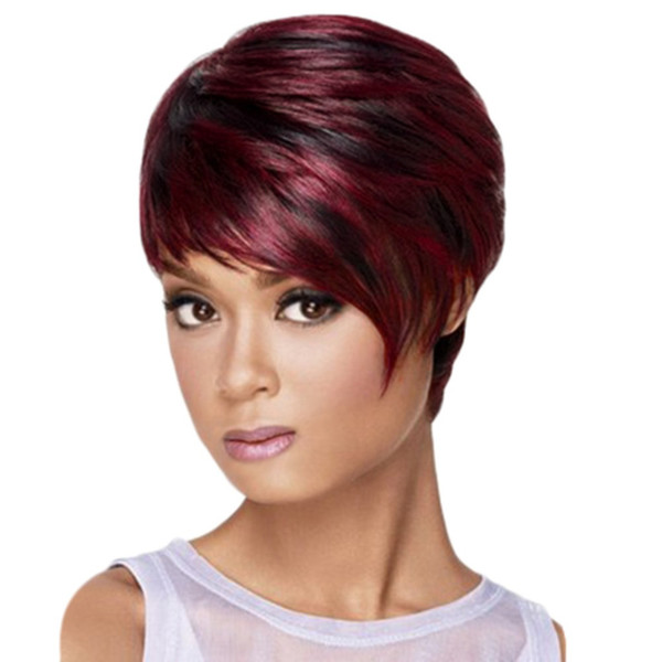 Fashion Synthetic Temperament Messy Hair Wig Red Short Hair Wigs Female Fiber High Temperature Fiber 16cm Wigs Dropshipping