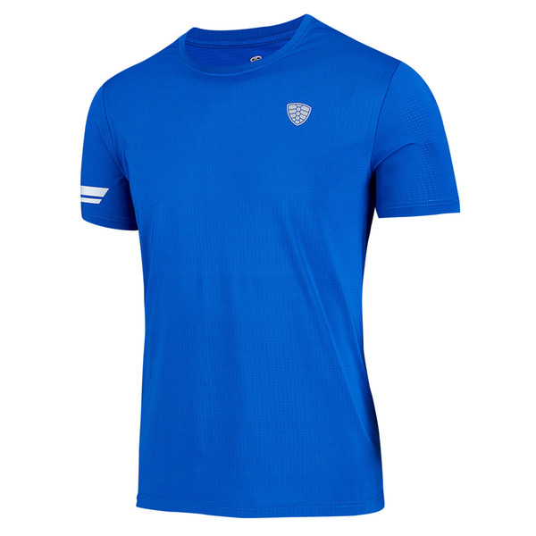 Best Selling Running T Shirt Men Gym T-shirt Breathable Blue Dry Fit Sport New Quick Dry Basketball Soccer Fitness Workout Brand Tee
