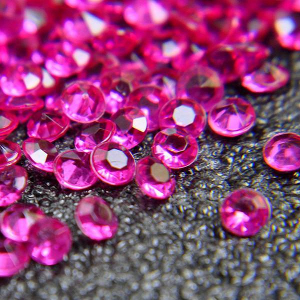 5000 adet 4.5mm 1 Karat Düğün Dekorasyon Akrilik Dağılım Masa Kristaller Diamonds Akrilik Elmas Kristal Konfeti