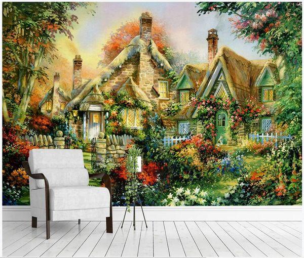 WDBH 3d обои на заказ фото американский абстрактный сельский пейзаж ТВ фон гостиная домашний декор 3d настенные росписи обои для стен 3 d