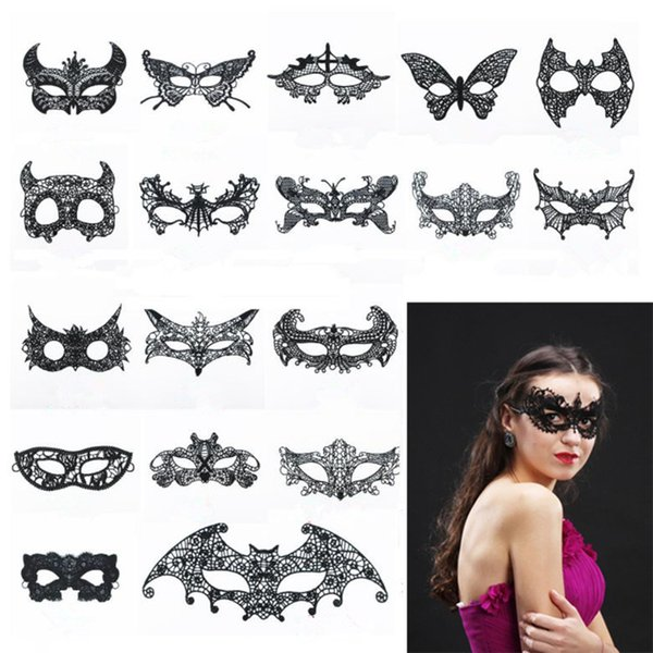 Sexy Makeup dance Mask Hot-selling Lace blindfold Halloween party women half masks Party Fashion Mask T9I0051