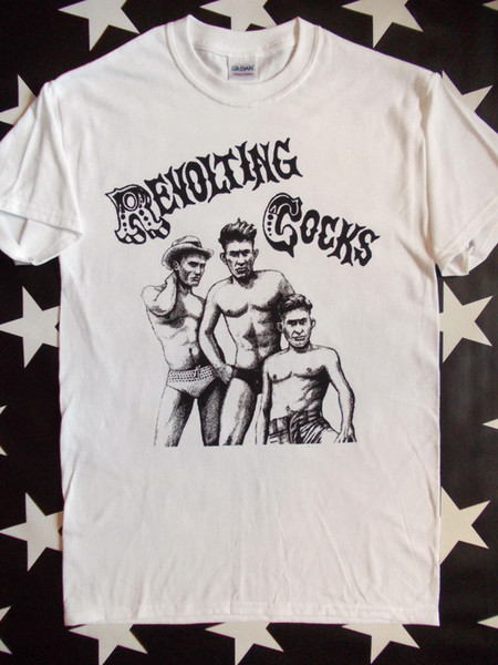 Revolting Cocks Revco white screen printed t-shirt Ministry Front 242 size S-2XL Men Women Unisex Fashion tshirt Free Shipping black