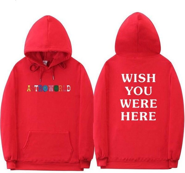 2019 Travis Scott Astroworld WISH YOU WERE HERE Hoodies Fashion Letter Print Hoodie Streetwear Man And Woman Pullover Sweatshirt W2089 From Missyou00,