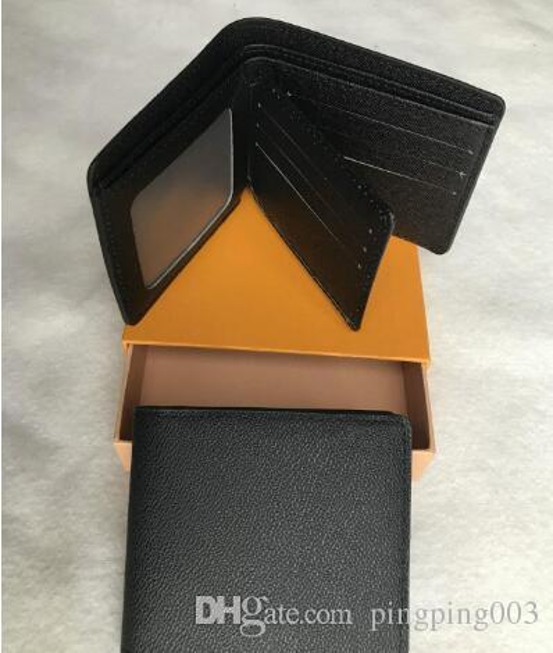 Qualità eccellente Pocket Organizzatore NM damier uomini rossi e donne passaporto vera pelle raccoglitori del supporto di carta N63144 della borsa borse id portafoglio bifold