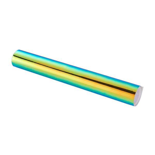 135 * 60CM Caméléon Autocollants Changement de Couleur Chrome Vinyle Film Laser Placage Laser Autocollant De Voiture Autocollant Decal Air Film