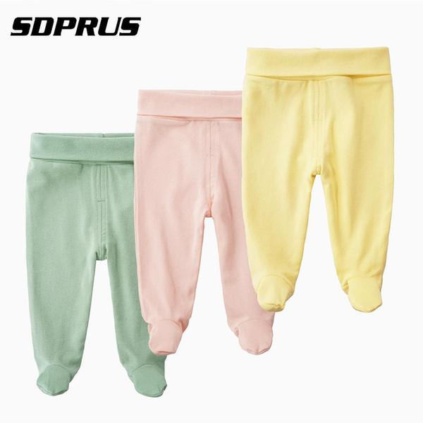Bebek pantolon Pamuk Yüksek Bel Ayaklı Pantolon bebek giyim Rahat Tayt Elastik Çorap Pantolon Külotlu Alt Çorap için Yeni