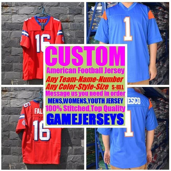 best selling Personalized american football jerseys college cheap authentic customize sports Jersey stitched mens womens youth kids 4xl 5xl 6xl 7xl 8xl
