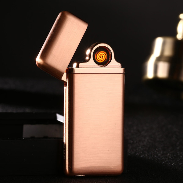 USB rechargeable lighter Jobon double sided tungsten wire windproof metal lighter with gift box