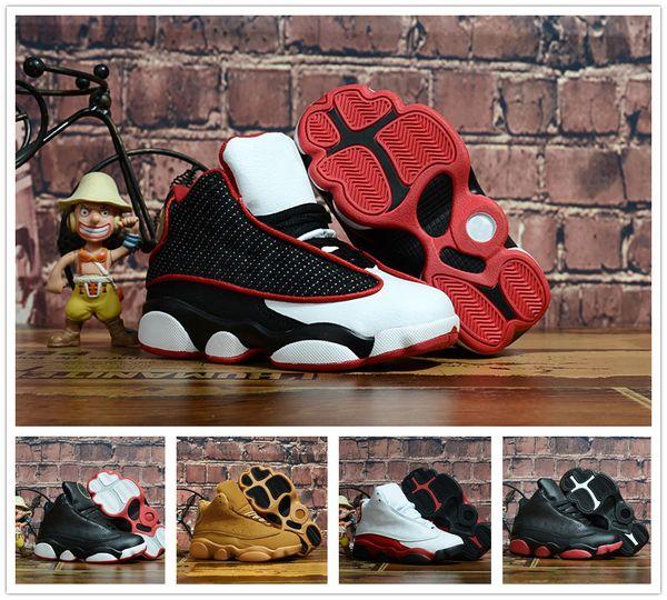 Sportliche 13s Entwerfer-Baby 13 der Jugend-Kinder 2019 scherzt Basketball-Schuh-Sportschuhe für Jungen-Mädchen-Schuhe Freies Verschiffen Größe: 28-35