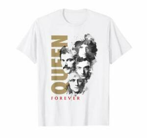 Queen Official Faces Ink Forever RoMen Band Music Fashion Tshirt Camiseta
