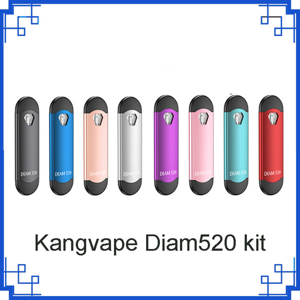 Оригинальный Kangvape Diam520 Pod Kit Цинковый Сплав 300 мАч Vape Pen 0,7 мл Емкость Картриджи для густой нефти против th420 kit