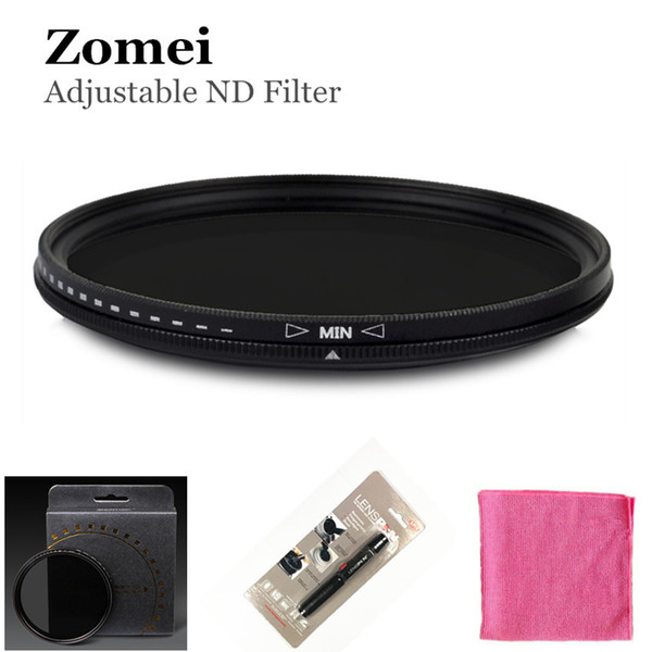 Professional Zomei 67mm 72mm 77mm ND Filter ND2 - 400 Coating Camera Lens for Canon 700D Nikon D5200 Camera Top Quliaty Screw Border