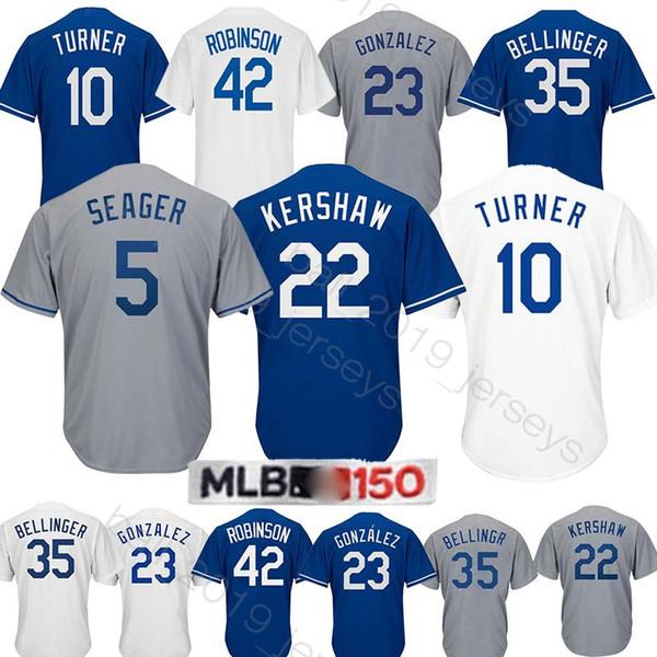 get cheap 6720d dcc15 2019 22 Clayton Kershaw Jersey Dodgers Jerseys 10 Justin Turner 5 Corey  Seager 23 Adrian Gonzalez 35# 42# Jersey From Ball_2019_jerseys, $22.05 |  ...