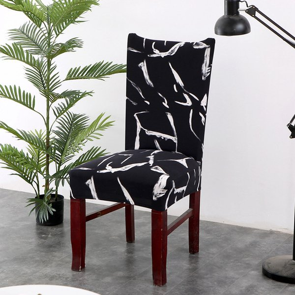 Printing Spandex Stretch Chair Cover Big Elastic Seat Chair Covers Removable Slip covers Restaurant Banquet Home Decoration