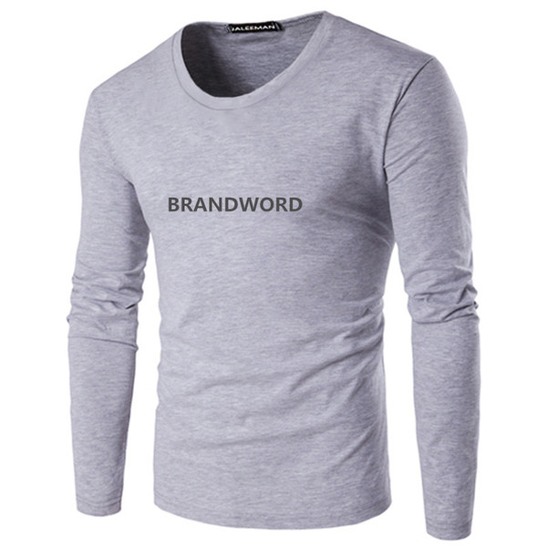 Neue Art- und Weiselogo-T-Stück Kleidungsdruckmarke T-Shirt Mens-Qualität langes Hülsen-T-Shirt Großhandels2pcs / lot